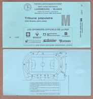 AC -  LUXEMBOURGvs ICELAND FOOTBALL - SOCCER TICKET 10 MARCH 1999 - Tickets D'entrée