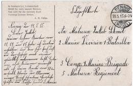 MILITARIA. 14-18 ALLEMAGNE. CACHET NENNIG  (MOSELLE) Sur C.P GUILLAUME II. ILLUSTRATEUR BENESCH. 1915. - Germania