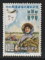 TAIWAN (Formose) - N° 431 ** (1963) Campagne Mondiale Contre La Faim - 1945-... Republiek China