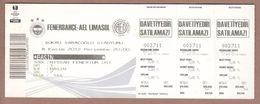 AC -  FENERBAHCEvs AEL LIMASOL UEFA EUROPA LEAGUE FOOTBALL - SOCCER TICKET 08 NOVEMBER 2012 - Tickets D'entrée