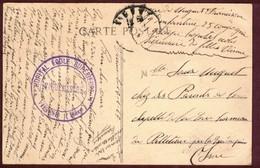 Franchise Militaire Santé * Hôpital école Supérieure  VIENNE Isère  *  Convalescent 1914 1918 - Marcophilie (Lettres)