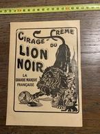 1927 PUBLICITE CIRAGE DU LION NOIR LEROY PRIEUR LEVALLOIS PERRET PATE MARCEROU - Old Paper