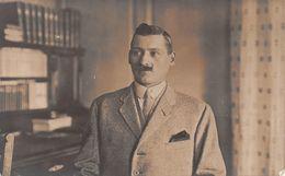 Carte-Photo - Portrait Homme - Moustache - Complet Veston - Fotografía