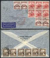 GERMANY: Airmail Cover Sent From Hamburg To Sao Paulo (Brazil) On 29/JUN/1938, Very Nice Commemorative Postage! - Germania