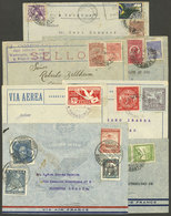 LATIN AMERICA: 7 Airmail Covers Of Years 1930 To 1938 Flown By Aeropostale, Air France, Or Aeroposta Argentina From Braz - Stamps