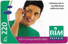 India - RIM - Man #1, GSM Refill 220₹, Exp.31.03.2006, Used - India