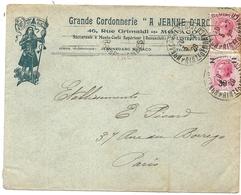 ENVELOPPE PUB GRANDE CORDONNERIE JEANNE D'ARC - Marcophilie