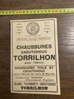 1927 PUBLICITE CHAUSSURES TORRILHON CLERMONT FERRAND PRIMUS LEVALLOIS PERRET ETABLISSEMENTS TUZET VINCENNES - Old Paper