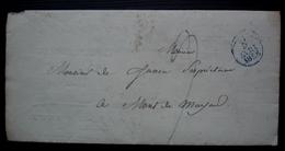 Paris 1828 Petit Cachet Bleu Sur Une Lettre Pour Mont De Marsan (caisse Des Dépôts Et Consignation) - Postmark Collection (Covers)