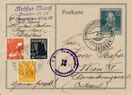 DRESDEN - 1947 , Ganzsache Heinrich V. Stephan Nach Wien   -   2. LANDESPARTEITAG DER SPD - Soviet Zone