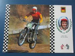 Carte Postale Motocross Maico Adilf Weil - Motos
