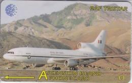 TARJETA DE ASCENSION ISLANDS DE UN AVION RAF TRISTAR 134CASC (NUEVA-MINT) - Ascension