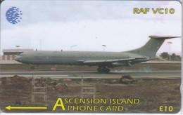 TARJETA DE ASCENSION ISLANDS DE UN AVION RAF VC10 134CASA (NUEVA-MINT) - Ascension (Insel)