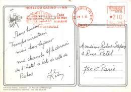 PIE-Z SDV-19-5240 : HOTEL DU CASINO JULLOUVILLE LES PINS DANS LA MANCHE. ENCRE ROUGE. - Marcophilie (Lettres)