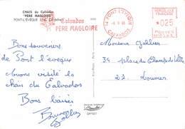 PIE-Z SDV-19-5241 : CALVADOS  PERE MAGLOIRE. ENCRE ROUGE. PONT L'EVEQUE - Poststempel (Briefe)