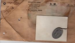 AVEZE SAINT GERMAIN DE LA COUDRE LE THEIL DOCUMENTS MEDAILLON A MR CHARTIER HENRI MAMERS 1003 CROIX ROUGE GUERRE 1914 - Documents