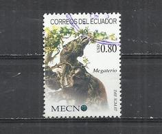 ECUADOR 2007 - GIANT GROUND SLOTH  (MEGATTERIUM SP.) - OBLITERE USED GESTEMPELT USADO - Préhistoriques