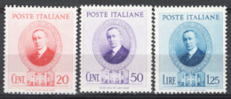 Italia Regno 1938 Sass.436/38 **/MNH VF/F - 1900-44 Victor Emmanuel III.