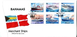 Bahamas 2004 Merchant Ships Set FDC (SG 1366-1371) - Bahamas (1973-...)