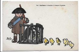 Illustratore Attilio - Per L'assistenza Ai Bambini In Tempo Di Guerra. - Patriottiche