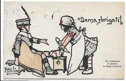 Illustratore Attilio - Dama, Sbrigati! - Per L'assistenza Ai Bambini In Tempo Di Guerra. - Patriottiche