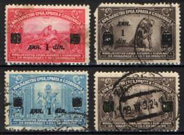 JUGOSLAVIA - 1922 - SOLDATO FERITO E SIMBOLO DELL'UNITA' - CON SOVRASTAMPA - USATI - 1919-1929 Reino De Los Serbios, Croatas Y Eslovenos