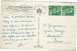 GANDON N° 884 EN PAIRE SUR LETTRE POUR LA SARRE 1952 - Postmark Collection (Covers)