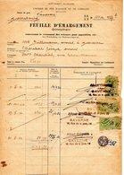 Timbre Fiscal Chemin De Fer D'alsace Lorraine     1932 Sarrebourg - Fiscaux
