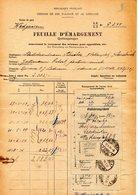 Timbre Fiscal Chemin De Fer D'alsace Lorraine    1934 Wadgassen - Revenue Stamps