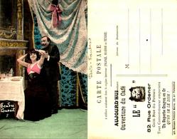 72, Publicité Ouverture Café Le Chat 82 Rue Ordener Paris, Couple Chambre - Publicité