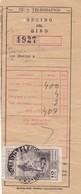 GIRO TELEGRAFICO - RECIBO DEL GIRO. GIRO DE DINERO. YEAR: 1957 SPAIN, ESPAÑA  -LILHU - Old Paper