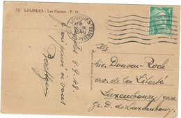 GANDON N° 807 SUR CARTE POUR LE LUXEMBOURG 1948 - Postmark Collection (Covers)