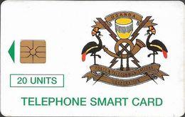 Uganda - UPTC - Telecom Logo Green - 20U, Chip Gem1A Symmetric Black, 125.000ex, Used - Ouganda
