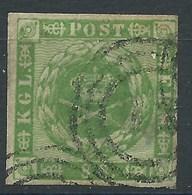 DANEMARK.  N° 9.   Cote 200 €. Signé CALVES. - Used Stamps