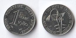 Etats De L'Afrique De L'Ouest Côte D'Ivoire 1 Franc CFA XOF 1980 - Costa D'Avorio