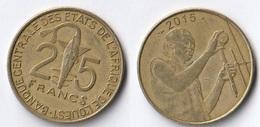 Etats De L'Afrique De L'Ouest Côte D'Ivoire 25 Francs CFA XOF 2015 - Costa D'Avorio