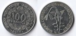 Etats De L'Afrique De L'Ouest Côte D'Ivoire 100 Francs CFA XOF 2017 - Costa D'Avorio