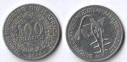 Etats De L'Afrique De L'Ouest Côte D'Ivoire 100 Francs CFA XOF 2014 Usée Coté Pile - Costa D'Avorio