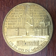 14 CAEN MÉMORIAL 20 ANS MÉDAILLE ARTHUS BERTRAND 2008 JETON TOURISTIQUE MEDALS TOKEN COINS WW 39-45 - 2008