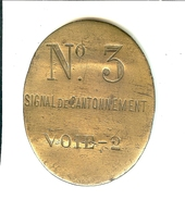 SNCF CHEMINOT CHEMINOTS SIGNAL DE CANTONNEMENT N° 3 VOIE - 2 - Railway