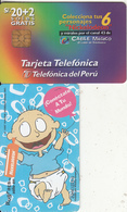 PERU - Nickelodeon/Rugrats 2(Tommy), Telefonica Telecard, Tirage 25000, 09/97, Used - Pérou