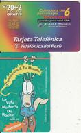 PERU - Nickelodeon/La Vida Moderna De Rocko, Telefonica Telecard, Tirage 25000, 09/97, Used - Pérou