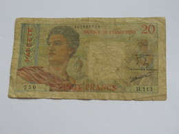 20 Francs PAPEETE - Banque De L'indochine  **** EN ACHAT IMMEDIAT **** - Papeete (Polynésie Française 1914-1985)