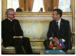 Rencontre Des 2 Co-Princes D'Andorre: L'Évêque D'Urgell Joan Enric Vives & E.Macron,Septembre 2019, Andorra - Andorra Spagnola