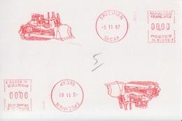 E.M.A Spécimen Secap NL W0059 (dessin D'un Bulldozer) (-5 11 87) - Fábricas Y Industrias