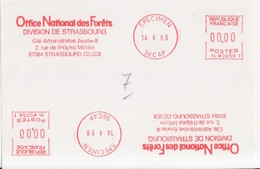 E.M.A Spécimen Secap NL W0059 (Office National Des Forêts, Division De Strasbourg) (14 4 88), Strasbourg - Protección Del Medio Ambiente Y Del Clima
