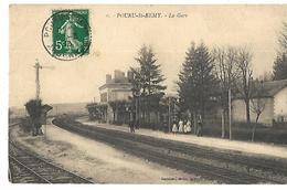 08 POURU SAINT REMY LA GARE 1913 CPA 2 CANS - Other Municipalities