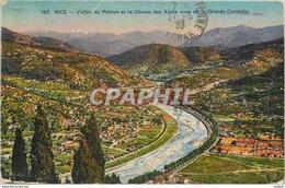 CPA Nice Vallee Du Paillon Et La Chaine Des Alpes Vues De La Grande Corniche - Nice