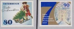 AUSTRIA, 2019, MNH, SELF-ADHESIVE COILS, CHRISTMAS, 2v - Navidad