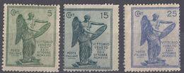 ITALIA - 1921 - Lotto Composto Da 3valori Nuovi: Yvert 113, 115 E 116, Non Linguellati, Di Seconda Scelta. - 1900-44 Victor Emmanuel III.